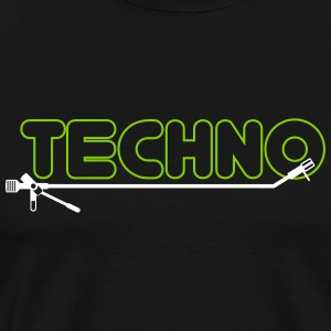 techno turntsble - Herre premium T-shirt