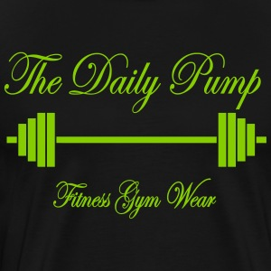 The Daily Pump Barbell - Herre premium T-shirt