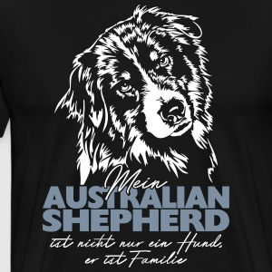 My AUSTRALIAN SHEPHERD is family - Men's Premium T-Shirt