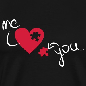 You and me Me and you Valentine Heart couple - Men's Premium T-Shirt