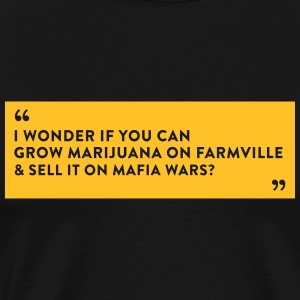 Farmville Vs. Mafia Wars - Herre premium T-shirt