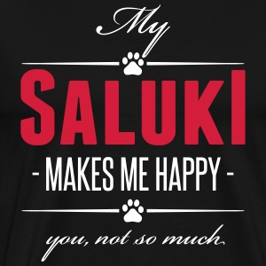 My Saluki makes me happy - Men's Premium T-Shirt