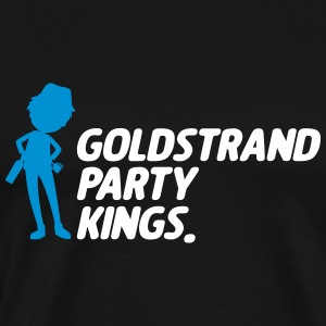 Gold Beach party Kings - Premium-T-shirt herr
