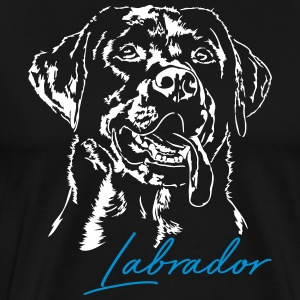 Labrador retriever 2 - Premium T-skjorte for menn