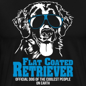 Flat Coated Retriever Coolest people - Men's Premium T-Shirt