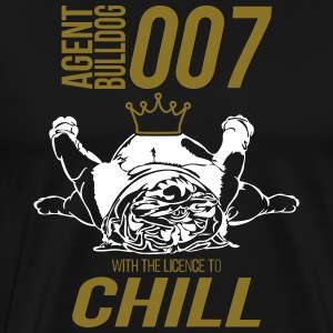 WITH THE LINCENCE TO CHILL - English Bulldog - Männer Premium T-Shirt