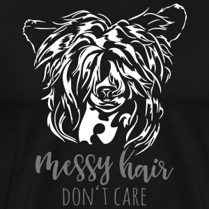 Rufsigt hår CARE INTE - Chinese Crested Dog - Premium-T-shirt herr