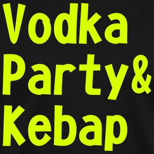 Vodka Party og kebab - Herre premium T-shirt