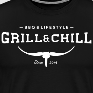 Grill and Chill / BBQ and Lifestyle Logo 2 - Männer Premium T-Shirt