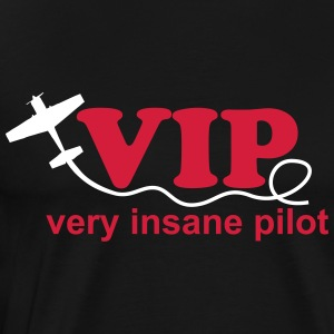 Pilot airplane crazy aerobatics sport gift - Men's Premium T-Shirt