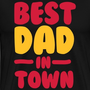 Best Dad in Town - Daddy - Farsdag - Father - Premium T-skjorte for menn