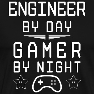 engineer by day gamer by night - Männer Premium T-Shirt