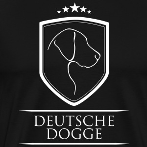 GERMAN DOGGE COAT OF ARMS - Men's Premium T-Shirt