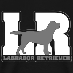 Labrador retriever LR - Premium T-skjorte for menn