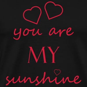 you are my sunshine - Liebe Beziehung Partner Love - Männer Premium T-Shirt