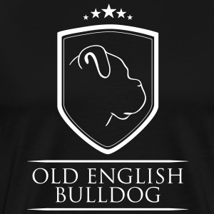 OLD ENGLISH BULLDOG COAT OF ARMS - Men's Premium T-Shirt
