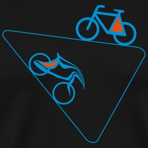 Bicycle Shirt Mannen Vrouwen Driehoek - Mannen Premium T-shirt