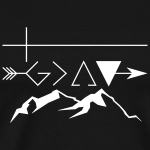 God is greater than the highs and lows. v2 - Männer Premium T-Shirt