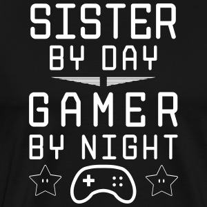 syster dag gamer by night - Premium-T-shirt herr