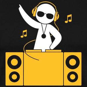 A DJ Plays Cool Music - Men's Premium T-Shirt