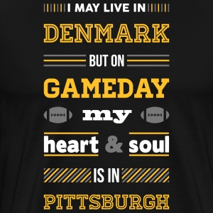 I may live in Denmark... (Pittsburgh edition) - Herre premium T-shirt