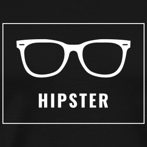 Hipster - lettering with sunglasses in the box - Men's Premium T-Shirt