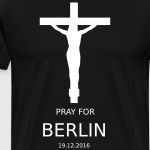 PRAY4BERLIN - Premium T-skjorte for menn