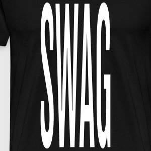 Hipster - Long SWAG lettering - Men's Premium T-Shirt