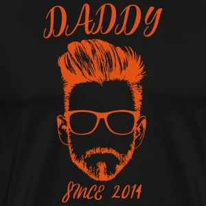 DADDY - siden 2014 - Premium T-skjorte for menn