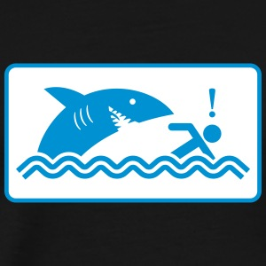 Warning: Beware Of Sharks - Men's Premium T-Shirt