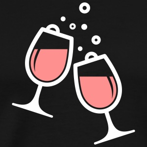 Two Wine Glasses - Men's Premium T-Shirt