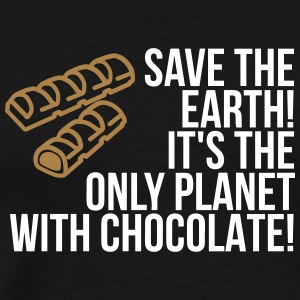 Save The Earth. It Has Chocolates! - Men's Premium T-Shirt