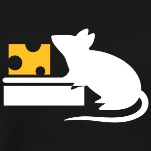 A Mouse Eating Cheese From The Mousetrap - Men's Premium T-Shirt