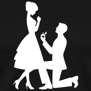 A Man Makes A Marriage Proposal - Men's Premium T-Shirt