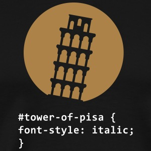 The Tower Of Pisa - Men's Premium T-Shirt