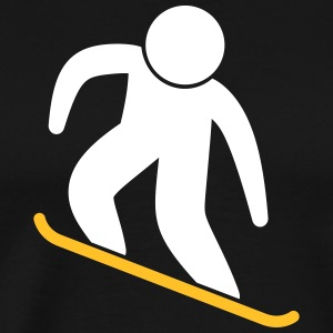 A Snowboarder Jump With His Board - Men's Premium T-Shirt