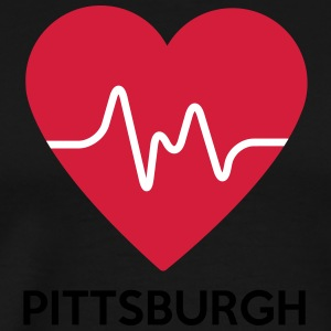 Heart Pittsburgh - Mannen Premium T-shirt