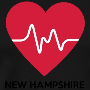 Heart New Hampshire - Men's Premium T-Shirt
