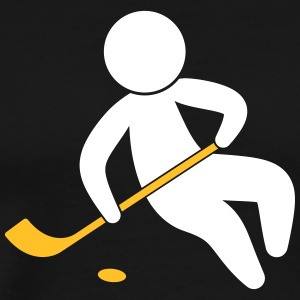 A Hockey Player With The Puck - Men's Premium T-Shirt