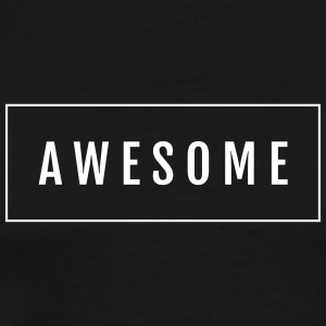 Hipster Awesome lettering in the frame - Men's Premium T-Shirt