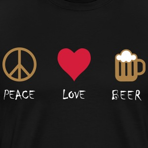 Peace Love Beer - Herre premium T-shirt