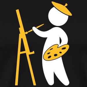 A Painter Working On His Masterpiece - Men's Premium T-Shirt