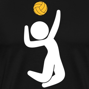 A Volleyball Player Jumps For The Ball - Men's Premium T-Shirt