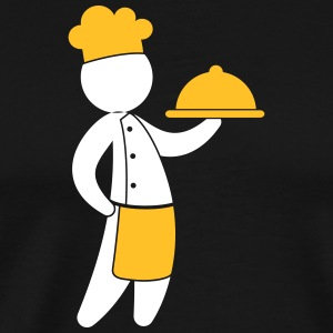 A Gourmet Chef Serves Guests - Men's Premium T-Shirt
