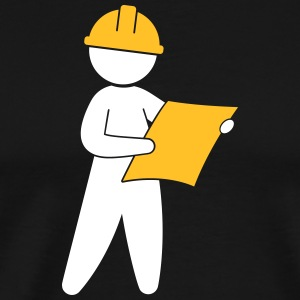 An Engineer At A Construction Site - Men's Premium T-Shirt