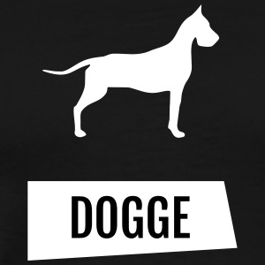 Dogge - lettering in oblique beams & silhouette - Men's Premium T-Shirt