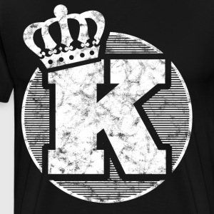 Stylish letter K with crown - Men's Premium T-Shirt