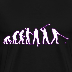 human EVOLUTION GOLF - Herre premium T-shirt
