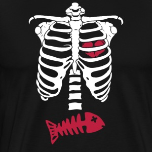 Skeleton skeleton pregnancy ribs skull - Men's Premium T-Shirt