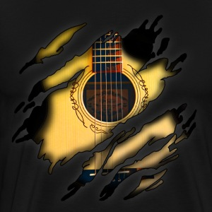 Acoustic guitar in me - Men's Premium T-Shirt